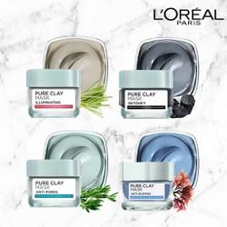 Mặt Nạ Đất Sét Loreal Paris Pure Clay Mask Anti Pores 50G  Kiềm Dầu Se Lỗ Chân Lông  Shop Bon91 Hàng Chuẩn