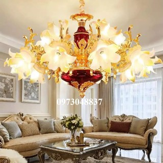 Đèn chùm - Đèn chùm trang trí cao cấp hoa huệ 15 tay - ĐC 7 15T thumbnail