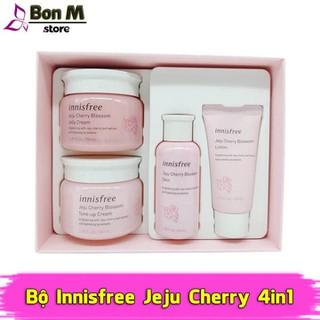 Bộ Innissfree Jeju Cherry Blossom 4in1 dưỡng ẩm và nâng tông sáng da - bộ dưỡng da đào 1