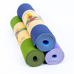 Thảm tập Yoga TPE eco 8mm cao cấp không kèm túi tím