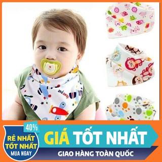 Khăn yếm tam giác cao cấp Cotton 2 lớp có cúc bấm - Khăn Yếm Cho Bé - KYTGCB-1 thumbnail