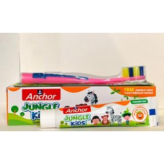 Kem đánh răng trẻ em từ Anchor Jungle Kids 50g Vị cam (Tặng kèm bàn chải) - 76543 thumbnail