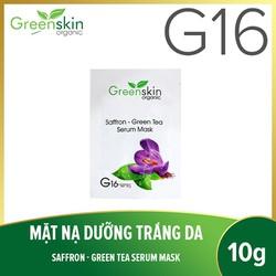 Greenskin Organic G16 mặt nạ dưỡng trắng da hoa nghệ tây 10g (Hộp 5 miếng)