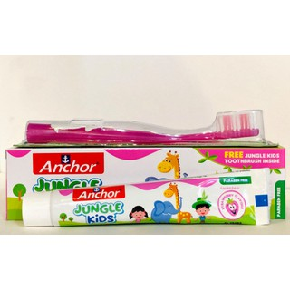 Kem đánh răng trẻ em từ Anchor Jungle Kids 50g Vị dâu (Tặng kèm bàn chải) - 78674543 thumbnail