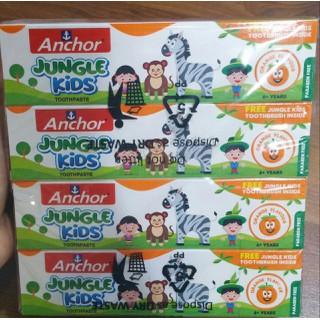 Combo lốc 8 hộp Kem đánh răng trẻ em từ Anchor Jungle Kids 50g Vị cam (Tặng kèm bàn chải) - 4358 thumbnail