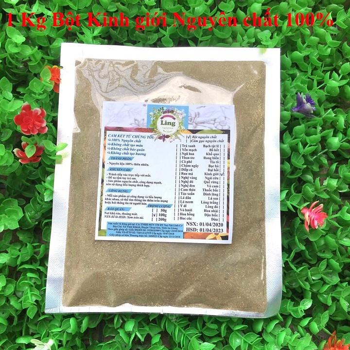 Bột Kinh Giới 1 Kg có giấy VSATTP và ĐKKD nguyên chất thiên nhiên 100% dùng để đắp mặt đa công dụng