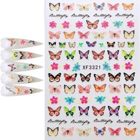 Miếng dán móng tay 3D hình con bướm sticker - 857