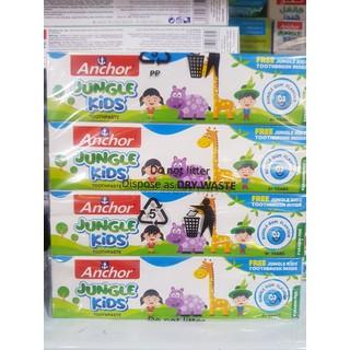 Combo lốc 8 hộp Kem đánh răng trẻ em từ Anchor Jungle Kids 50g Vị Singum(Tặng kèm bàn chải) - 6553452 thumbnail