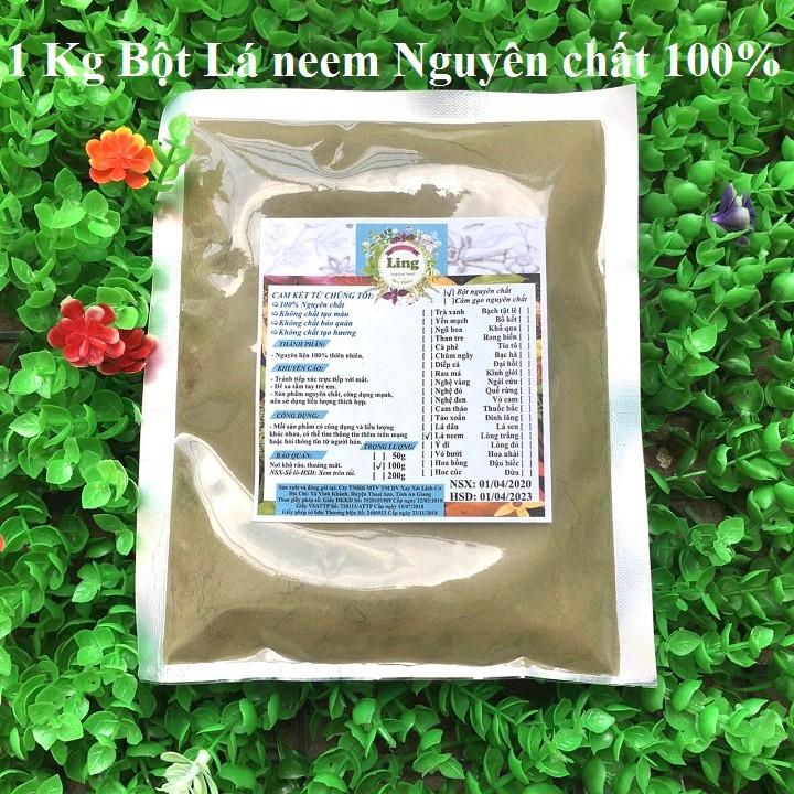 Bột Lá Neem 1 Kg có giấy VSATTP và ĐKKD nguyên chất thiên nhiên 100% dùng để đắp mặt đa công dụng