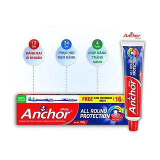 combo 8 cây Kem đánh răng Bảo vệ toàn diện Anchor All Round Protection - 200g Thương Hiệu Anh Quốc tặng kèm bàn chải đánh răng - 3546576 thumbnail