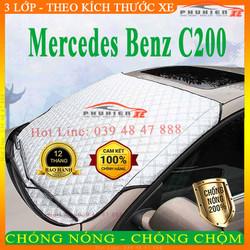 tấm chắn kính lái xe ô tô Mercedes Benz C200 3 lớp cao cấp, chống nóng, hạn chế hư hại nội thất xe