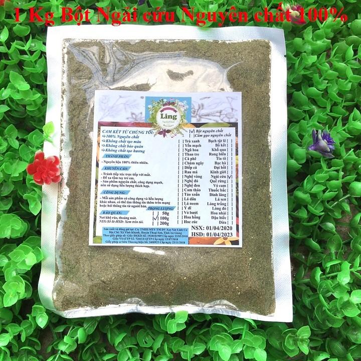 Bột Ngải Cứu 1 Kg có giấy VSATTP và ĐKKD nguyên chất thiên nhiên 100% dùng để đắp mặt đa công dụng