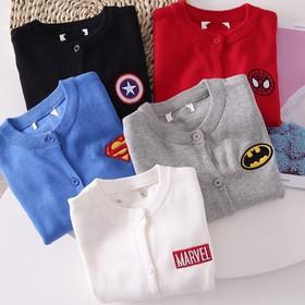 Áo khoác len siêu nhân cho bé - len cadigan HT