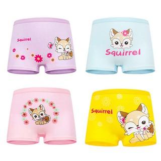 Set 4 quần chip đùi cho bé gái 2-12 tuổi chất cotton mềm mại co giãn tốt họa tiết theo chủ đề đủ màu sắc đáng yêu BBShine - C015 thumbnail