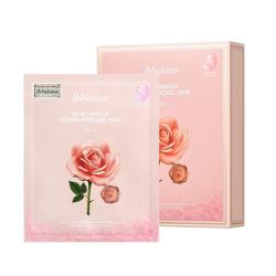 Hộp 10 Mặt Nạ Thạch Dưỡng Sáng, Căng Bóng Da Chiết Xuất Hoa Hồng Jm Solution Glow Luminous Flower Hydrogel Mask Rose 30g x 10