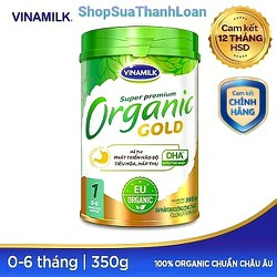 [HSD T12-2022] SỮA BỘT VINAMILK ORGANIC GOLD 1 (0 - 6 THÁNG) 350G