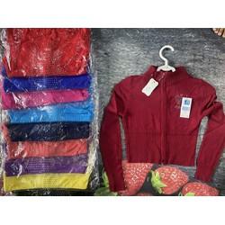 Áo khoác len dáng lửng dây kéo đính hạt