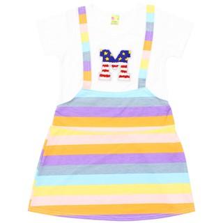 Váy chữ 7 màu phối bé gái - Chất vải mềm [ ẢNH THẬT 100% DO SHOP CHỤP ]