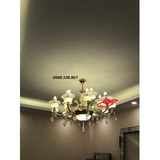 Đèn chùm - đèn pha lê đá cao cấp 8 tay - ĐCPL-8T thumbnail