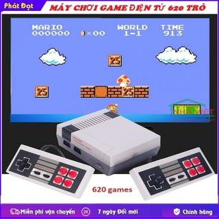 Máy chơi game-Máy chơi game đĩa 620 trò hai người chơi - máy chơi game 620 trò xanh thumbnail