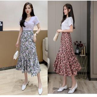 Chân váy hoa dài Hàn Quốc CV124 [ĐƯỢC KIỂM HÀNG] 33345394 - 33345394 thumbnail
