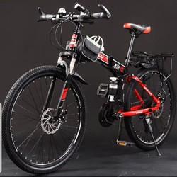 Xe đạp gấp 26 icnh ( đầy đủ phụ kiện như hình)
