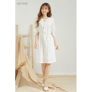 Đầm cổ V khoen TTMT GUMAC DA679 - DA679_TRANG thumbnail