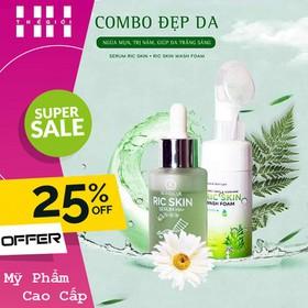 Combo Serum Và Sữa Rửa Mặt Ric Skin - SRM VÀ SERUM