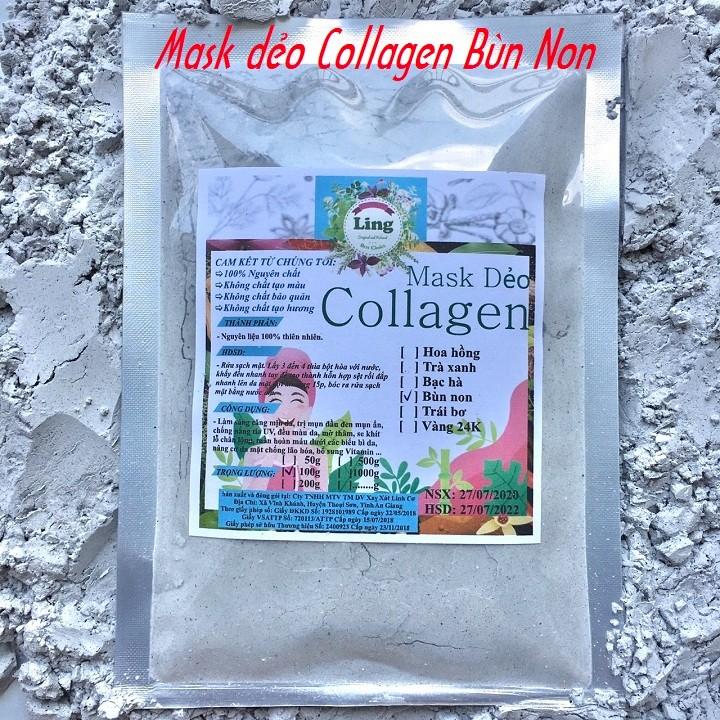 Bột Mask Dẻo Collagen Bùn Non 1 Kg có giấy VSATTP và ĐKKD nguyên chất thiên nhiên 100% dùng để đắp mặt đa công dụng