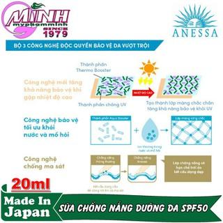 Sữa Chống Nắng Dưỡng Da Bảo Vệ Hoàn Hảo Anessa Perfect UV Sunscreen Skincare Milk 20ml - AN16170 2