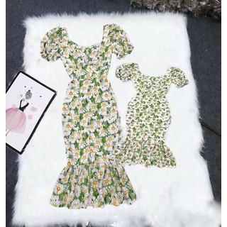 Mẹ Bé Đầm Đuôi Cá Hoa Cúc Mẹ Và Bé TP15 - TP15 thumbnail