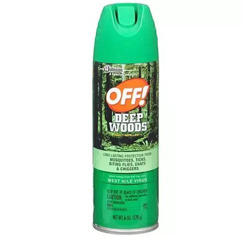 Xịt chống muỗi và côn trùng off deep woods dry của johnson