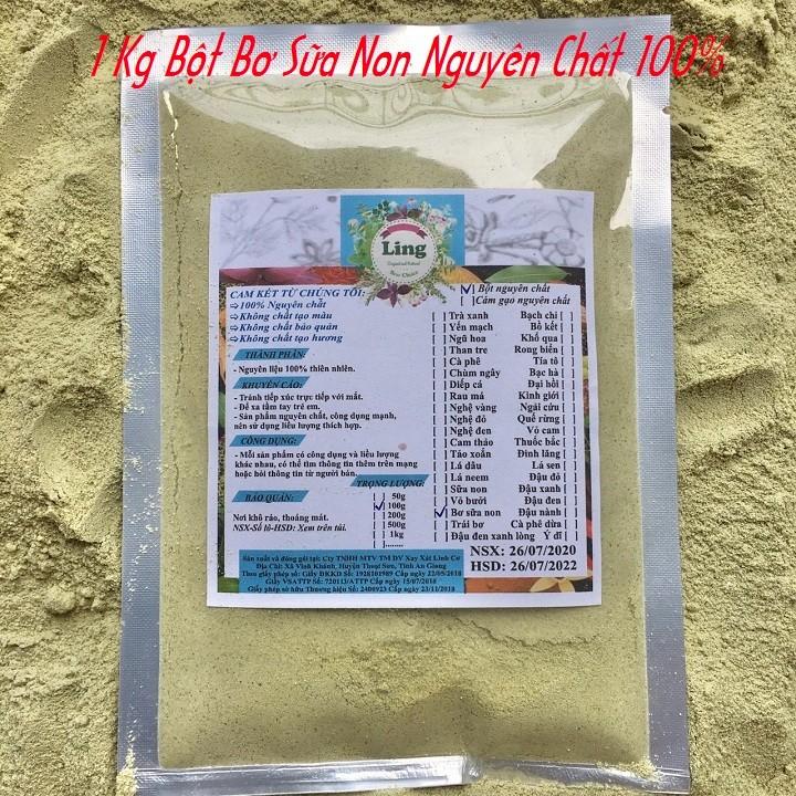 Bột Bơ Sáp Mix Sữa Non 1 Kg có giấy VSATTP và ĐKKD nguyên chất thiên nhiên 100% dùng để đắp mặt đa công dụng