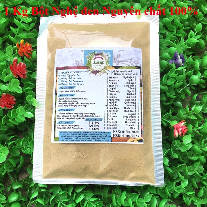 Bột Nghệ Đen 1 Kg có giấy VSATTP và ĐKKD nguyên chất thiên nhiên 100% dùng để đắp mặt đa công dụng