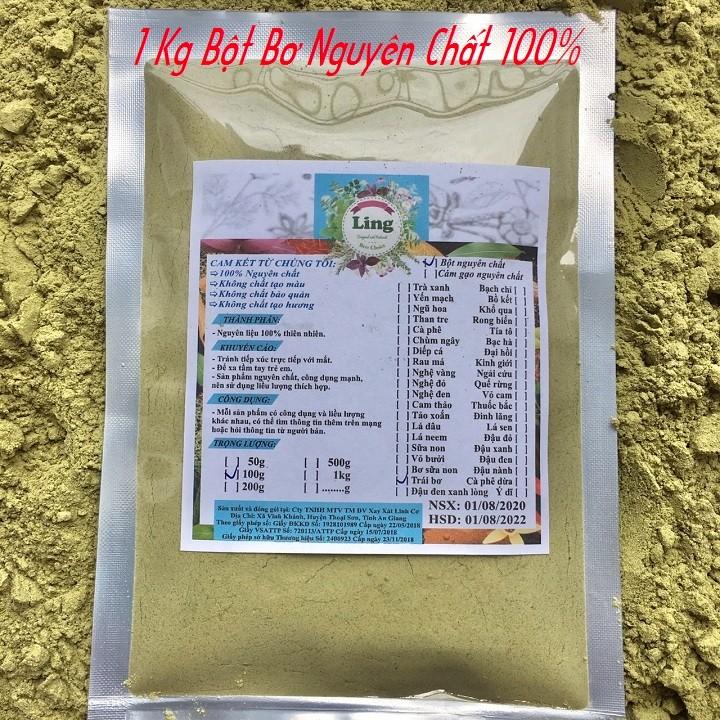 Bột Bơ Sáp 1 Kg có giấy VSATTP và ĐKKD nguyên chất thiên nhiên 100% dùng để đắp mặt đa công dụng