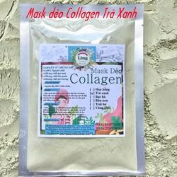 Bột Mask Dẻo Collagen Trà Xanh 1 Kg có giấy VSATTP và ĐKKD nguyên chất thiên nhiên 100% dùng để đắp mặt đa công dụng