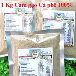 Bột Cám Gạo Cà Phê 1 Kg có giấy VSATTP và ĐKKD nguyên chất thiên nhiên 100% dùng để đắp mặt đa công dụng