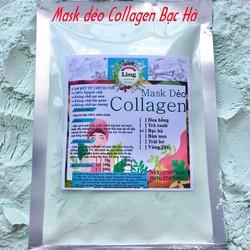 Bột Mask Dẻo Collagen Bạc Hà 1 Kg có giấy VSATTP và ĐKKD nguyên chất thiên nhiên 100% dùng để đắp mặt đa công dụng