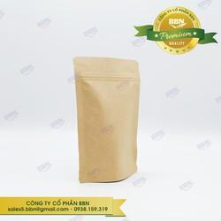 1kg Túi Zipper Giấy Kraft Đáy Đứng Không Cửa Sổ - Đựng Cà Phê, Trà, Đồ Sấy Khô, Các Loại Bột Hạt