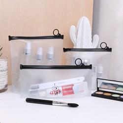 Set 3 túi PVC khóa zip tròn đựng mỹ phẩm, đồ dùng du lịch [Hoạt Hình]