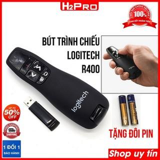 Bút trình chiếu laser R400 H2PRO, bắt sóng 15m. Bút chỉ slide cho giáo viên (tặng đôi pin 20K) - H2WW663 thumbnail