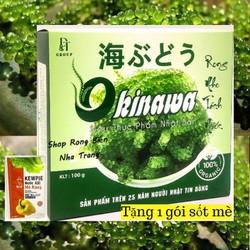 Rong nho biển Okinawa 100g 5 gói - Tặng 1 gói nước sốt mè rang Kewpie 15ml