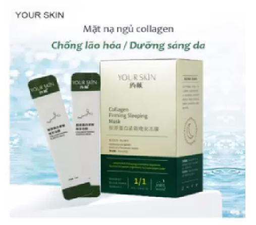 [3 gói] Mặt nạ ngủ collagen YOUR SKIN trắng da chống lão hóa mặt nạ ngủ dưỡng ẩm mặt nạ ngủ dạng gel mặt nạ nội địa Trung