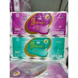 1 bịch 10 cuộn giấy vệ sinh Hà Nội 3 lớp 1,6kg