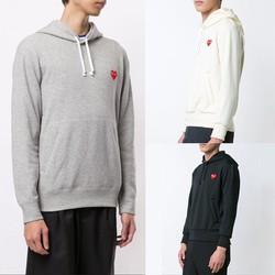 Áo Hoodie Nam Nữ Play Heart Thêu Tim Đỏ Cao Cấp - CDG Made In Japan Form Chuẩn - Đẹp - Thời Trang