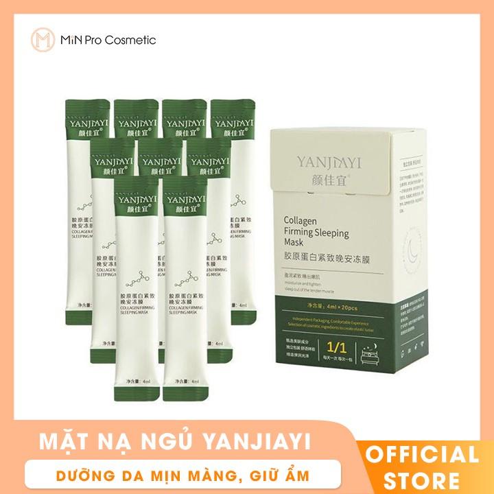 Mặt nạ ngủ YanJiayi dạng thạch collagen nâng cơ hộp 20 cái