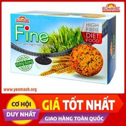 Bánh ăn kiêng yến mạch mè đen Fine 178g - Nhập khẩu chính ngạch từ Malaysia