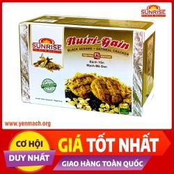 Bánh ăn kiêng yến mạch mè đen Sunrise 178g - Nhập khẩu chính ngạch từ Malaysia