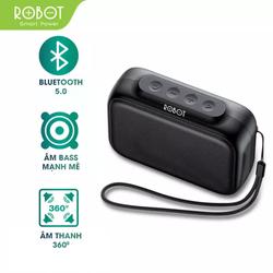 [Bảo Hành 12 tháng] Loa Bluetooth 5.0 Robot RB100 Thanh âm tuyệt đỉnh , Công suất lớn sạc nhanh trong 2 giờ thời gian sử dụng 8 giờ dung lượng pin 1200mAh - Hàng Chất Lượng-Uy Tín-1 Đổi 1 Trong Vòng 7 Ngày