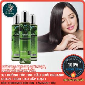 Tinh dầu bưởi kích thích mọc tóc ORGANIC GRAPE FRUIT 220ml chính hãng - tinhchatkichthichmoctoc